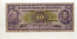 - VENEZUELA   . BILLET DE 10 B. 1988 - Venezuela