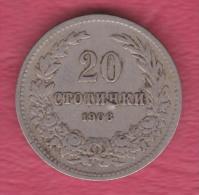 F5135 / - 20 Stotinki - 1906 - Bulgaria Bulgarie Bulgarien Bulgarije - Coins Monnaies Munzen - Bulgaria