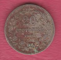 F5150 / - 20 Stotinki - 1906 - Bulgaria Bulgarie Bulgarien Bulgarije - Coins Monnaies Munzen - Bulgaria