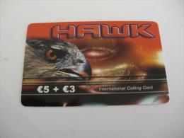 Phonecard/ Telécarte/ Cartão Telefónico Hawk  - 5 Euros + 3 Euros - Portugal