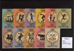 1980 - Hungria - JJOO De Roma - MI 86-96 - MNH1 - Verano 1980: Moscu