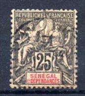 SENEGAL 1892 Definitive 25c.  Used.  Yv. 15 - Senegal (1887-1944)