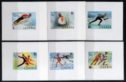 1980 - Liberia - JJOO De Lake Placid -  Hojitas - Sin Dentar - MNH - Verano 1980: Moscu