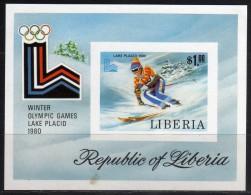 1980 - Liberia - JJOO De Lake Placid - HB - Sin Dentar - MNH - Verano 1980: Moscu