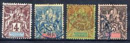 MADAGASCAR 1896-99 Definitive 4c., 15c., 20c., 25c. Used.  Yv. 30, 33-35 - Madagascar (1889-1960)