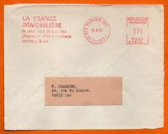 PARIS  LE PLUS FORT TIRAGE DES JOURNEAUX D'INFORMATIONS  1966 Devant De Lettre N° EMA 2738 - Freistempel