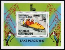 1980 - R. Centroafricana - JJOO. De Lake Placid - HB - Vencedors - MNH - Verano 1980: Moscu