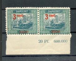 Saar 70B Br Druckdatum-Teil (F3483 - Ongebruikt