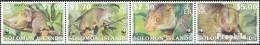 Salomoninseln 1062-1065 Viererstreifen (kompl.Ausg.) Postfrisch 2002 Naturschutz Wollkuskus - Solomon Islands (1978-...)