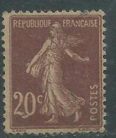 France N° 139 Q ( . ) Type Semeuse : 20 C. Brun-rouge, Variété Q Au Lieu De 0 Neuf Sans Gomme Sinon TB - Errors & Oddities