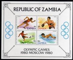1980 - R. De Zambia - JJOO. De Moscu - HB - MNH - Verano 1980: Moscu