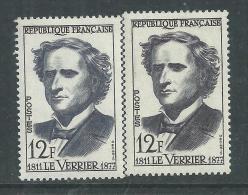 France N° 1147a XX Urbain Le Verrier, Variété : Brun-noir Au Lieu De Brun-noir Et Violet-gris, Sans Charnière TB