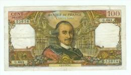 FRANCE 100 F CORNEILLE DU 4/1/1973 PLIS TROUS SALISSURES UNE PETITE COUPURE PAS DE MANQUE TB - 1962-1997 ''Francs''