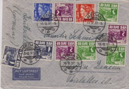 Netherlands Indies; Air Mail Cover To Germany 1937 - India Holandeses