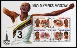 1980 - Tanzania - JJOO. De Moscu - HB - MNH - Verano 1980: Moscu