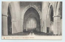 Brecon - The Interior Of The Priory Church. - Breconshire