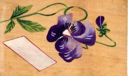 AK Materialkarten  POSTKARTEN, Die Gereist Sind Und Aus Holz Gebaut  BLUMEN ANSICHTSKARTE 1923 - Ansichtskarten