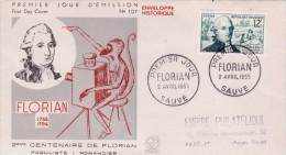 FDC Florian 1955, Cote 5 €, Voir Photo - 1950-1959