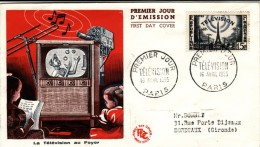 FDC Télévision 1955, Cote 4 €, Voir Photo - 1950-1959