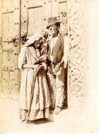 Italia, Coppia Di Anziani  Vintage Albumen Print.   Tirage Albuminé   12x17   Circa 1875 - Non Classificati