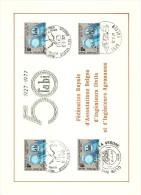 COB  1842  (x4)  (o)  Oblitération 1er Jour   (Lot B1) - Cartes Souvenir