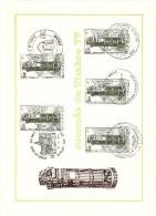 COB  1852  (x5)  (o)  Oblitération 1er Jour   (Lot B1) - Cartes Souvenir