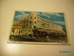 INDIA STREET VIEW  GRAND HOTEL CALCUTTA  ,  POSTCARD, o
