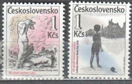 Czechoslovakia 1987 Art Painting Gemalde Michel 2916-2917 MNH (**). - Tchécoslovaquie