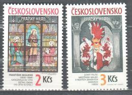 Czechoslovakia 1987 Art Tapestry, Glass Window  Michel 2909-2910 MNH (**). - Tchécoslovaquie