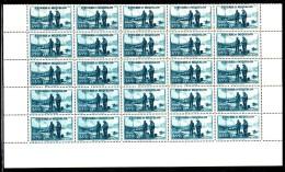 St Pierre Et Miquelon MNH Scott #185 Partial Sheet Of 25 55c Port St. Pierre - Blocs-feuillets