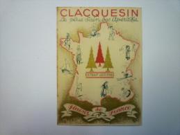 """Petit  CALENDRIER  PUB  """" CLACQUESIN """" 1938  (5,5 X 8 Cm) - Kalenders"""