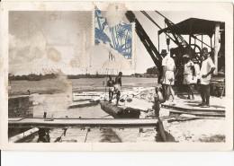 V-GRAND BASSAM(COTE D'IVOIRE)ARRIVEE DES BILLES DE BOIS PAR LA LAGUNE - Costa D'Avorio