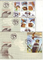 #5303 Romanian Set Of 3 FDC- Stamps+sheet  2007: Birds Of Prey (2) - Águilas & Aves De Presa