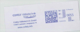 Absenderfreistempel Freistempel Werbestempel Cofely Kältetechnik Lauterach Langegassegdf Suez - Affrancature Meccaniche Rosse (EMA)