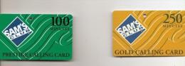 V-DUE(2) CARD TELEFONICHE-PRESTIGE CALLING CARD-SAM'S CLUB-100 MINUTES+200 MINUTES - Schede Telefoniche