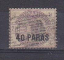 Levant Britannique //  N 1 //  40 Para Sur 2 1/2 Violet  //  Oblitéré - Levant Britannique