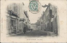 SAUZE VAUSSAIS  (79 - Deux-Sèvres) - Grand Rue (Animée, Personnes, Commerces ...) - Sauze Vaussais