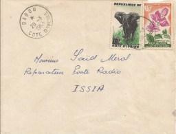 Cote D´Ivoire 1963 Dabou Elephant Bougainvillea Spectabilis Flower Cover - Ivoorkust (1960-...)