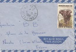 Cote D´Ivoire 1960 Guiglo Elephant Cover - Ivoorkust (1960-...)