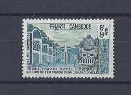 CAMBODGE . YT  231  Nouvelle Ligne De Chemin De Fer Phnom Penh-Sihanoukville 1970 Neuf ** - Cambodge