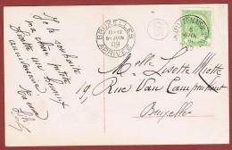 Kaart Carte Bruxelles  Cachet De Départ : Palais De Justice 5 Juin 1909 - Postmark Collection