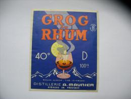 Etiquette Grog Au Rhum - Rhum