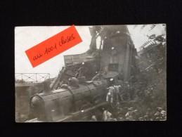 91- Carte-photo Accident Ferroviaire à Monnerville (Essonne) - France