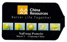 # NGFUNG POMELO - CHINA RESOURCES Fruit Tag Balise Etiqueta Anhänger Cartellino Fruit Fruits - Fruits & Vegetables