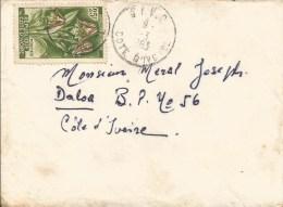 Cote D´Ivoire 1963 Divo Foxglove Orchid Eulophia Cucullata Cover - Ivoorkust (1960-...)