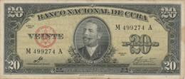 CUBA - 20 Pesos - 1960 - Pick 80c (voir Scan) - Cuba