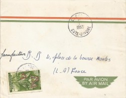Cote D´Ivoire 1963 Duekoue Foxglove Orchid Eulophia Cucullata Cover - Ivoorkust (1960-...)