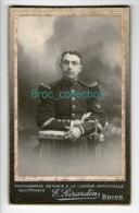 Photo Cdv D´un Militaire, 126 Sur Col, Photographe E. Girardin, Brive - Oorlog, Militair