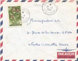 Cote D´Ivoire 1963 Grand Bassam Foxglove Orchid Eulophia Cucullata Cover - Ivoorkust (1960-...)