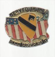 PINS PIN'S MILITAIRE ARMEE SOLDAT CHEVAL  BLASON PARA DRAPEAU USA - Army